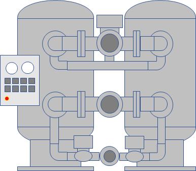 吸湿式(吸着式)圧縮空気除湿装置(エアドライヤー)の仕組み